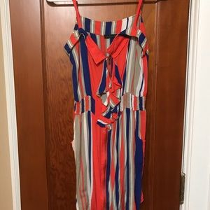Other - Orange and blue romper